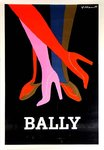 Poster  Bally  The Legs  Bernard   Villemot  1979