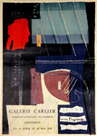 Affiche  Max Papart Dessins  Collages  Galerie Carlier  Avril Mai 1958