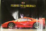 Affiche Ferrarri  F 40   By Burago Photo  Roberto Bigano  92