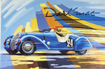 Affiche  Course automobile   Darl  Mat   Paul Bracq   Circa 1970