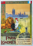Poster  Paris  Londres North French Railways   Gustave Fraipont   Circa  1925