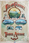 Affiche  Amtrak Travel   USA Rail Pass   See the Country  Circa 1940
