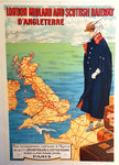 Poster   London  Midland And Scottish  Railways  D'Angletrerre    Circa 1910