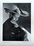 Affiche   Vogue  1947  Claude St Cyr   Grand Chapeau