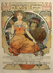 Affiche Exposition Universelle et Internationale St Louis USA 30 Avril 30 Novembre 1904 Mucha 1903