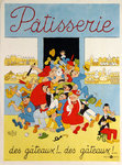 Affiche  Patisserie  Dubout 1956