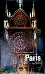 Affiche  Paris  Notre Dame  Rose et Gable du Transept   Sud  Photo  Fronval  1964