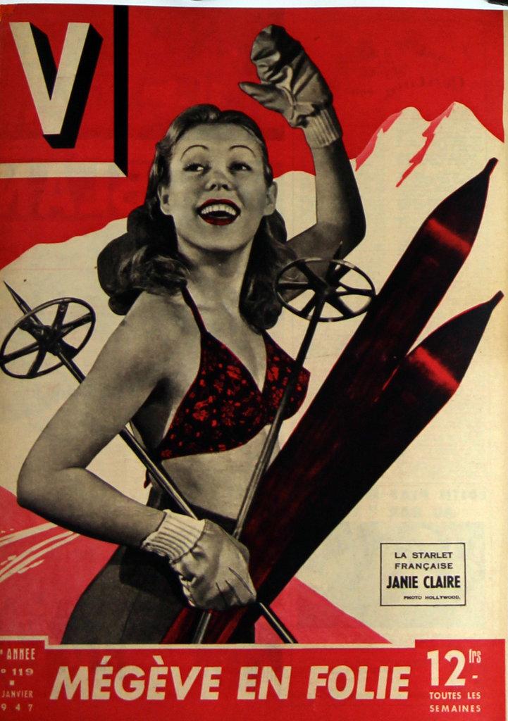 Affiche Janie Claire Megeve en Folie 1947